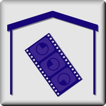 Hotel Icon In Room Movie clip art