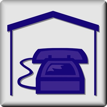 Hotel Icon In Room Phone clip art