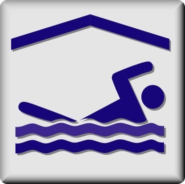 Hotel Icon Indoor Pool clip art