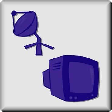 Hotel Icon Satellite Tv clip art