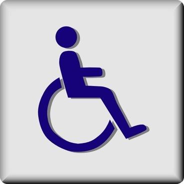 Hotel Icon Wheelchair Access clip art