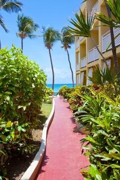 hotel path to the beach