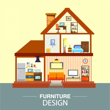 house architecture background modern flat cut design