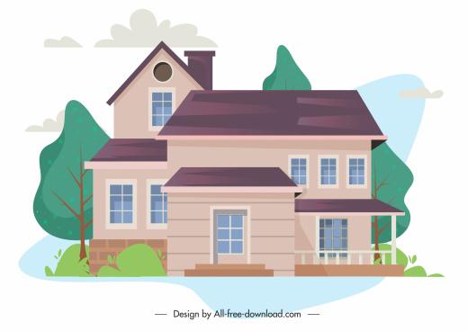 house architecture template elegant decor exterior sketch