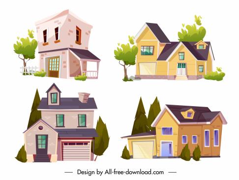 house architecture templates elegant contemporary sketch