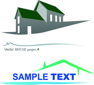 house creative logos vector illustration