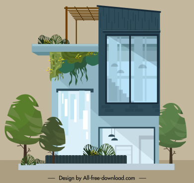 house exterior template elegant modern decor