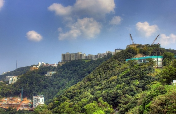 house on the hill in hong kong china