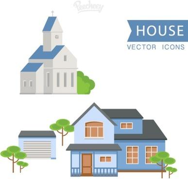house set flat design