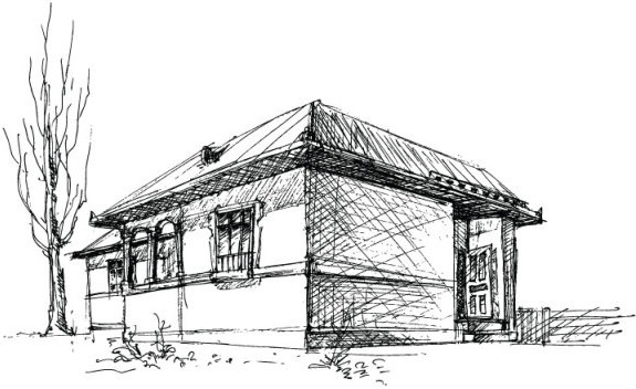 house sketch vector 1