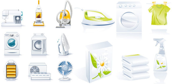household appliances icon vector
