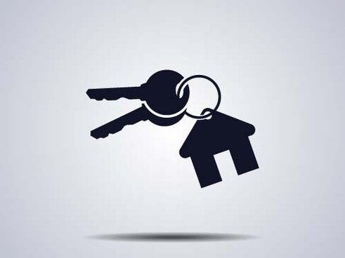 houses with key logos vector