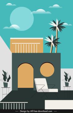 housing architecture exterior template elegant modern decor