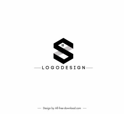 housing logo template text decor black white design