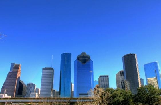 houston skyline in houston texas