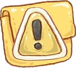 Hp folder caution