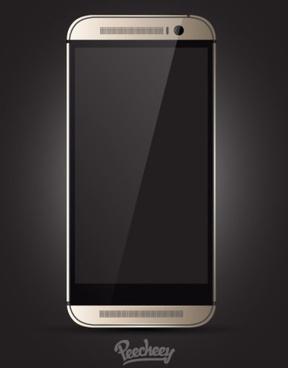 htc smartphone mockup realistic design