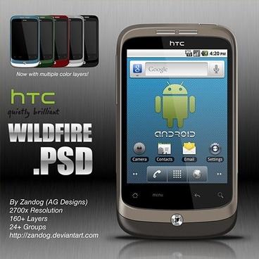 HTC Wildfire Free PSD