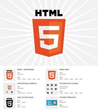 html5 newly released logo vector and png