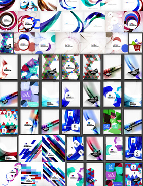 huge collection modern abstract backgrounds vectors