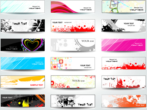 huge collection of modern website benner vector graphic