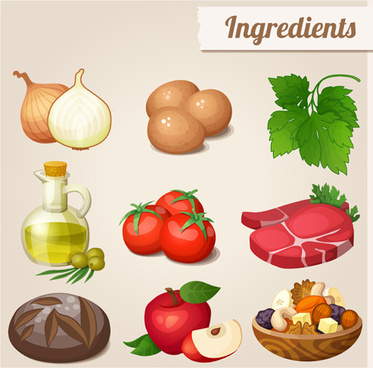 huge collection of various food icons vector