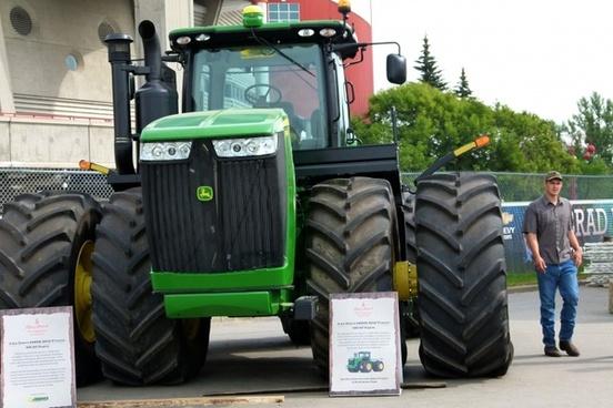 huge tractor farm