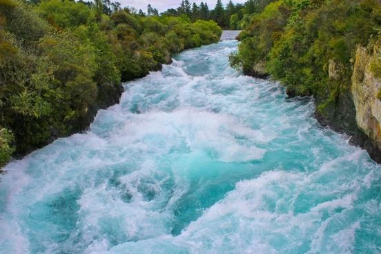 huka river water waterfall