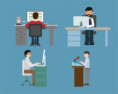 People Working Icons Free Vector Download 28 934 Free