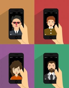 human avatar avatars smartphones portrait isolation