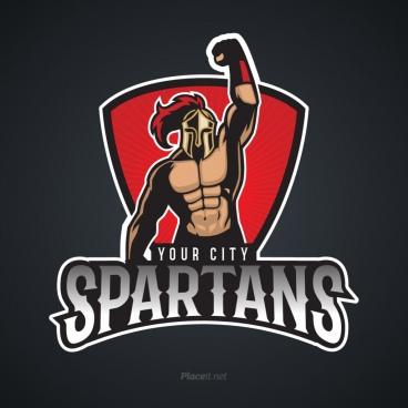 human characters sports logo vectors