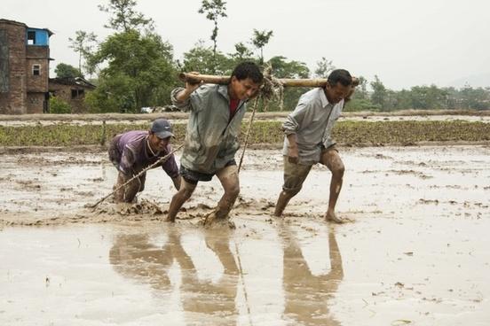 human efforts men at work mud