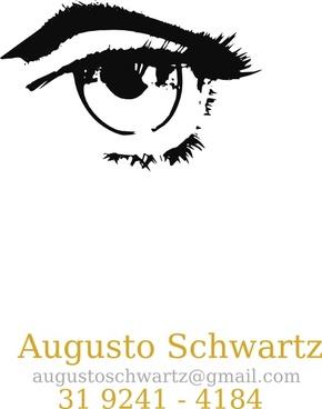 Human Eye Black And White clip art