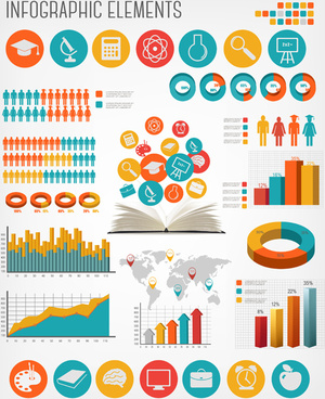 human health infographics vector