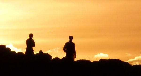 human skyline back light