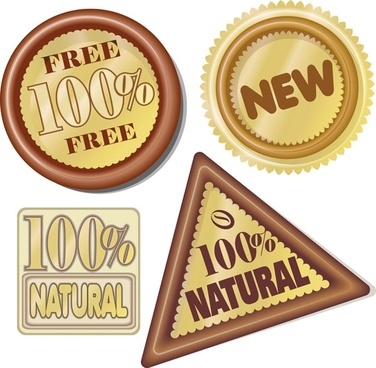 hundred percent natural icon vector
