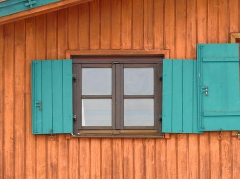 hut log cabin window