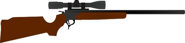 Huting Rifle With Scope clip art