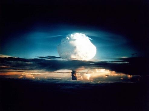 hydrogen bomb atomic bomb nuclear explosion