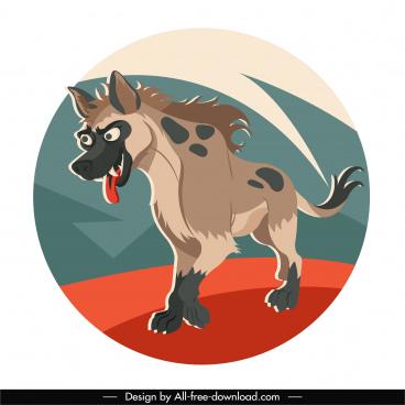 hyena animal icon cartoon character sketch