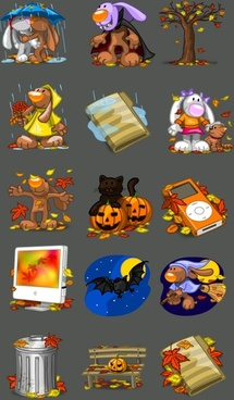 I Love Autumn Icons icons pack