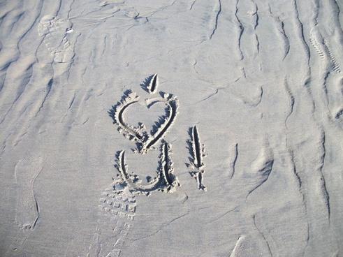 i love you sand