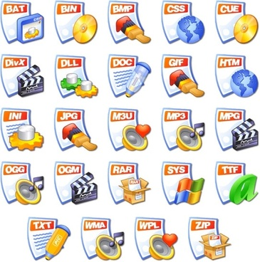 iCandy Junior File Types icons pack