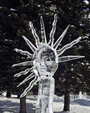 ice carving art lake louise