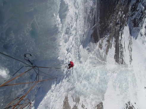 ice climbing mountaineering alpine