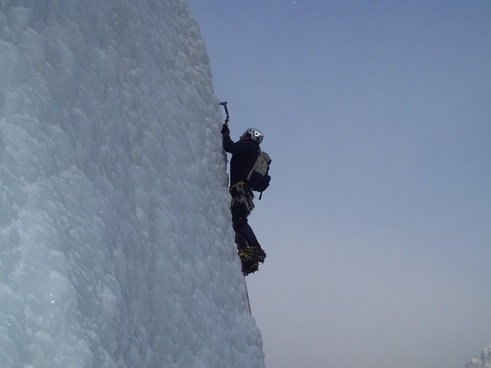 ice climbing mountaineering alpine