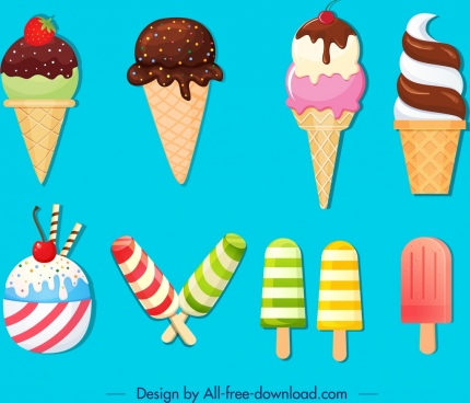 ice cream background colorful modern design