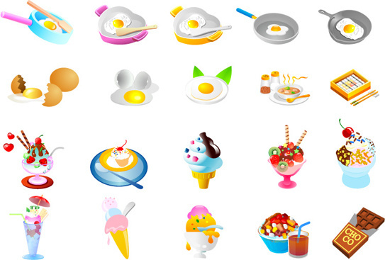 ice cream food vector art