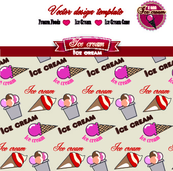 ice cream labels design vector