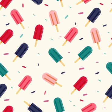 ice cream pattern colorful repeating icons